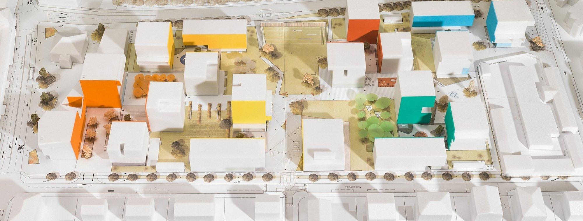 Modell Sicht Moosstraße oben © Hannes Auer